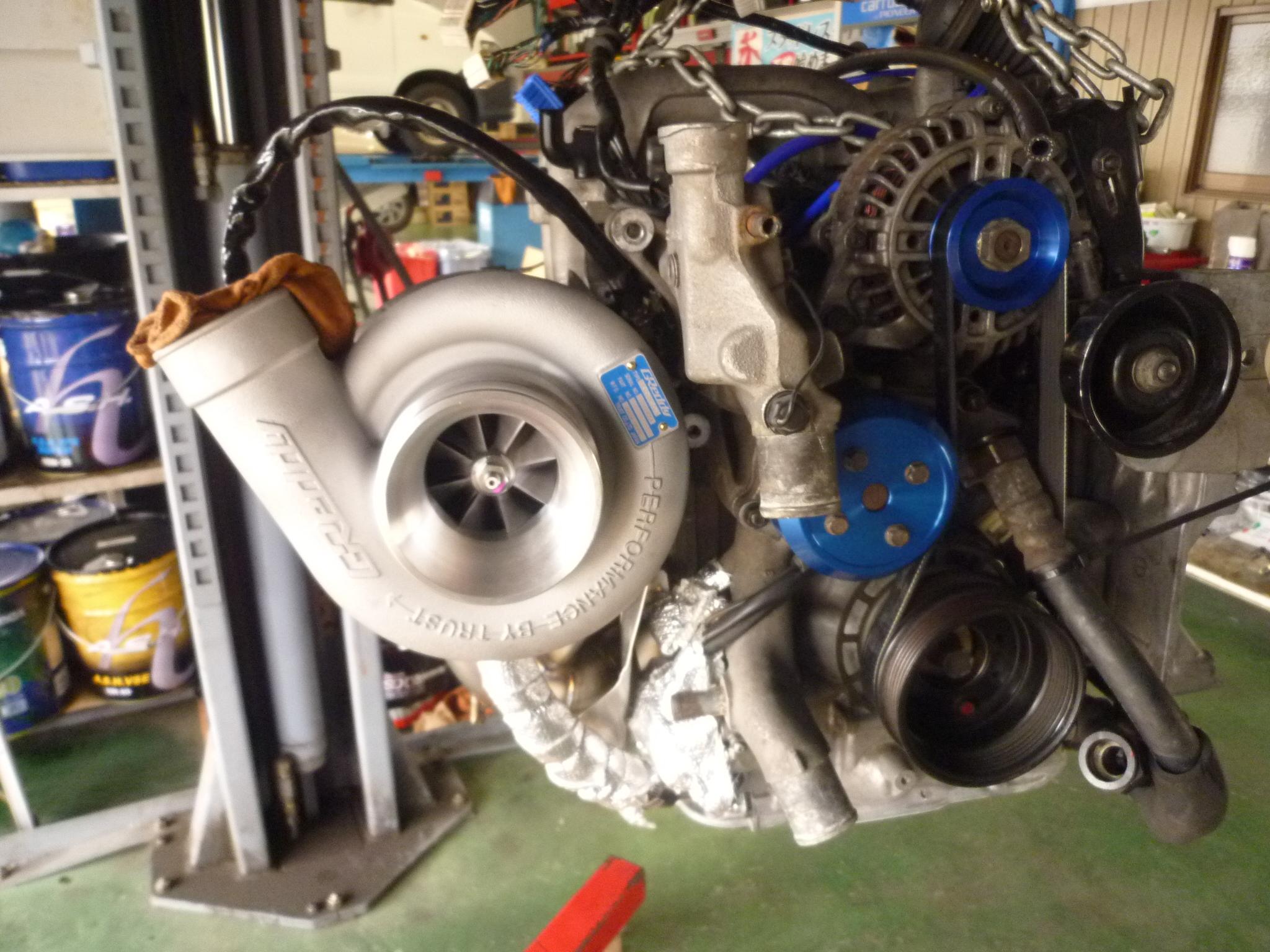 RX7【FD3S】ロータリーエンジンオーバーホール中